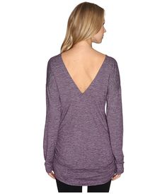 Lucy Manifest Long Sleeve Tunic Blackberry Micro Stripe - Medium