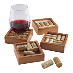 Wine Cork Coasters Kit (Set of 2)