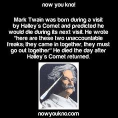 Now You Know (Source). Mark Twain