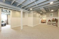 Unfinished basement ceiling, Exposed basement ceiling, and more Pins popular on Pinterest