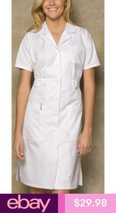 Dickies EDS Professional Whites 84500 Button Front Dress Nursing Dress, Nursing Clothes, Uniform Dress, Shirt Dress, White Nurse Dress, Dickies Workwear, Medical Uniforms, Staff Uniforms, Button Front Dress
