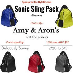 Sling Pack Giveaway (3/5 US)