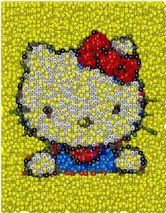 d60a77aecc4b Skittles Hello Kitty Mosaic by Paul Van Scott
