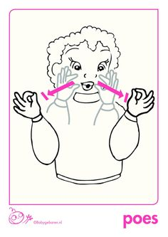 Gebaar: Poes Baby Hacks, Baby Tips, Baby Sign Language, Signs, Snoopy, Babies, Speech Therapy, Communication, Nice