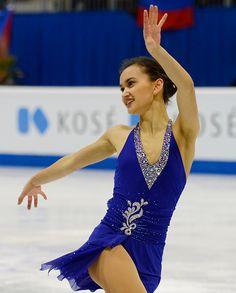 Anne Line Gjersem of Norway, ISU European Figure Skating Championships 2016, Bratislava, Slovakia. (Stormy Weather by Etta James)