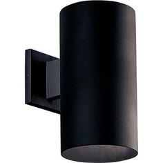 Exterior lighting for garage - Progress Lighting 1- Black Light Wall Lantern-P5641-31 - The Home Depot