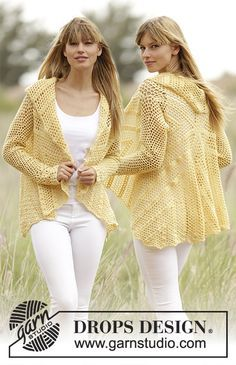 169-35 Oasis - free crochet jacket pattern with charts by DROPS design. Sizes: S/M – L/XL – XXL/XXXL. Sport weight.
