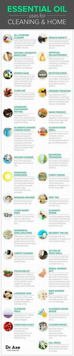 Essential oils for cleaning & in the home