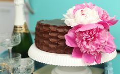 Dulce Delight: Ombre Birthday Cake! Moist Chocolate Cake with Milk Chocolate Frosting