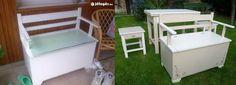Old Furniture, Outdoor Furniture Sets, Outdoor Decor, Reuse, Interior, Kitchen, Diy, Crafts, Home Decor