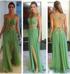 Green Beading Custom Made Charming Prom Dress,Chiffon Formal Dresses,Long Evening Dresses,Off the shoulder dress,Homecoming dress