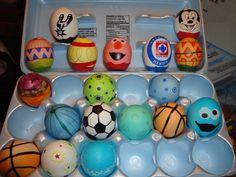 Decorated confetti eggs