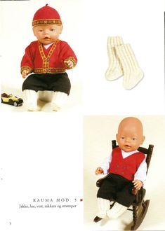 Albumarkiv Doll Dress Patterns, Baby Born, American Girl, Diy And Crafts, Archive, Crochet Hats, Album, Outfit, Filing Cabinets