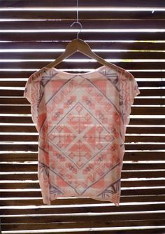 Sheer Coral Tunic by Texturable