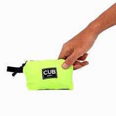 CUB TRAVELER Hobo Nylon Bag Green Neon (folded side), #bags #minirucksack #outdoor #slingbag #products #traveling #traveler #urbantraveling #travelgear #hobo #nylon #apparel #holiday #vacation #dailypack