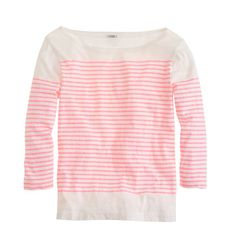 jcrew Engineered-stripe boatneck top