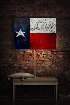 Illuminated Art, Love For Texas, Room Decor, Wall Decor, Ambiance Light, Nursery, night light, Built With LEDs on Etsy, $149.00