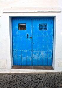 Gorgeous old blue doors of Frigiliana Village Blue Doors, Lockers, Locker Storage, Furniture, Home Decor, Closets, Interior Design, Cabinets, Home Interior Design