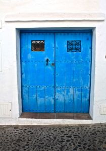 Gorgeous old blue doors of Frigiliana Village