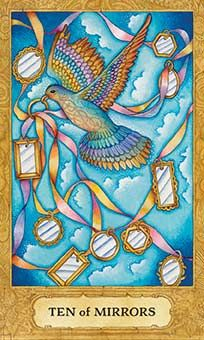 January 13 Tarot Card: Ten of Cups (Chrysalis deck) What a glorious time! Things are good, balanced, and happy now. You've come a long way ~ don't forget to stop and appreciate where you are, who's in your life, and all you have