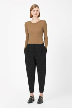 Zip-cuff trousers