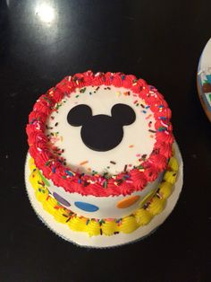 Mickey Mouse clubhouse smash cake.