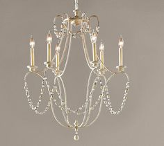 Rowan Iron Beaded Chandelier | Pottery Barn