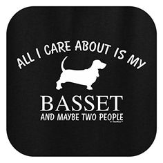 All I Care About is my Basset, Basset Hound Ladies T-Shirt XL Black • Basset Bazaar