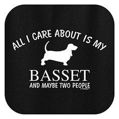 All I Care About is my Basset, Basset Hound Ladies T-Shirt XL Black • Basset Bazaar