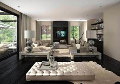 Paying attention to the details of the design is essential in creating a luxury living room interior. Elegant Living Room, My Living Room, Interior Design Living Room, Living Room Designs, Living Room Decor, Modern Living, Cozy Living, Mesa Sofa, Luxury Interior Design