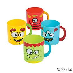 Mini Monster Mugs - 12 Pk Party Supplies Canada - Open A Party
