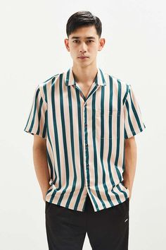 ab59858ef8 Shop UO Liam Satin Short Sleeve Button-Down Shirt at Urban Outfitters  today. We carry all the latest styles