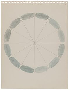 Richard Tuttle Any Grey, 1972 Graphite and watercolor on paper, 11 7/8 x 8 7/8 inches