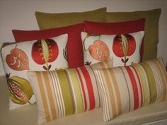 Co-ordinating cushions in Harlequin fabrics - from the Tembok and Anoushka plains collections