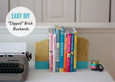 Easy DIY: Dipped brick bookends