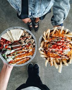 Chicken Combo Platter & Custom Halal Fries from Halal Guys SoCal // via foodwithmichel