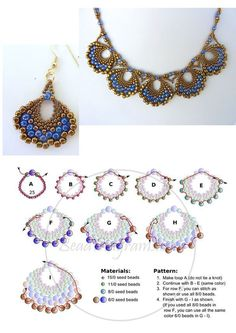 Simple Lace and Other Beaded Jewelry Patterns Diy Jewelry Tutorials, Beading Tutorials, Jewelry Crafts, Handmade Jewelry, Handmade Wire, Handmade Necklaces, Beading Ideas, Custom Jewelry, Unique Jewelry