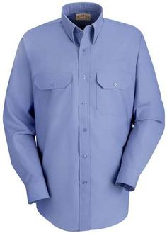 cfb5b6d92bcb Red Kap Men's Long Sleeve Solid Dress Uniform Shirt
