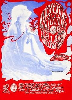 Moby Grape - The Sparrow - The Charlatans - 1967 - Avalon Concert Poster