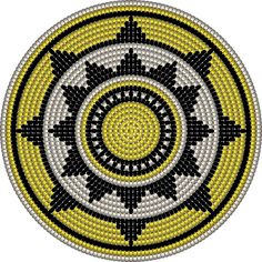 "The location where building and construction meets style, beaded crochet is the act of using beads to decorate crocheted products. ""Crochet"" is derived fro Tapestry Crochet Patterns, Crochet Motifs, Crochet Stitches Patterns, Crochet Chart, Bead Crochet, Beading Patterns, Sac Granny Square, Mochila Crochet, Crochet Gratis"