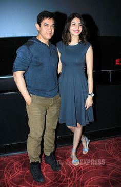 'PK' actors Aamir Khan, Anushka Sharma hosted a special screening of their film for friends from the film fraternity. Seen at the special screening were Sonam Kapoor, Madhuri Dixit, Twinkle Khanna and son Aarav along with a gamut of other celebs. Take a look.