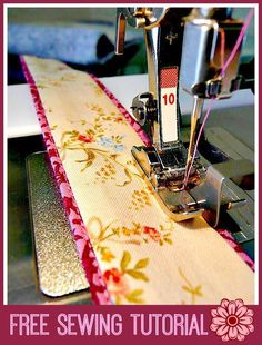 If you like the look of piping but don't want to have to make or buy it, try this free sewing tutorial by Bloom that demonstrates how you can sew faux piping.