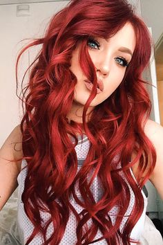 Milk + Blush Hair Extensions: Deluxe Set in the shade I Said Red - Kopf Micro Ring Hair Extensions, Rachel Hair, Dyed Red Hair, New Hair Growth, Long Red Hair, Remy Human Hair, Great Hair, Up Hairstyles, Hair