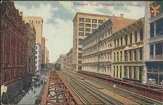 Chicago Elevated Wabash Ave Chicago Illinois