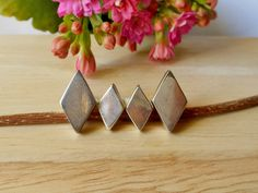 Classic Unique Handmade 3 Dimension Silver Rhombus Earrings,Rhombus Earring,Stud Earrings,Geometric Earring,Personalized Gifts,Gifts For Her by Supsilver on Etsy
