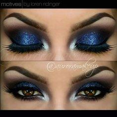 Motives: Burgundy Smokey Eye with Blue Look by Auroramakeup