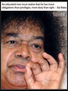 Sri Sathya Sai Baba - Quote   #SBOI  #SathyaSaiBaba