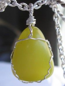 GIVEAWAY!!! Lizardite stone wire wrapped in sterling silver