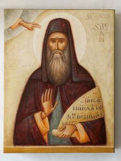 Silouan by Gabriel Toma Chituc Religious Paintings, Religious Art, Greek Icons, Russian Icons, Best Icons, Byzantine Art, Icon Collection, Orthodox Icons, Baby Owls