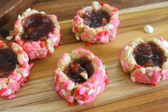 Chocolate Strawberry Thumbprint Cookies (grain free) - Treats With a Twist